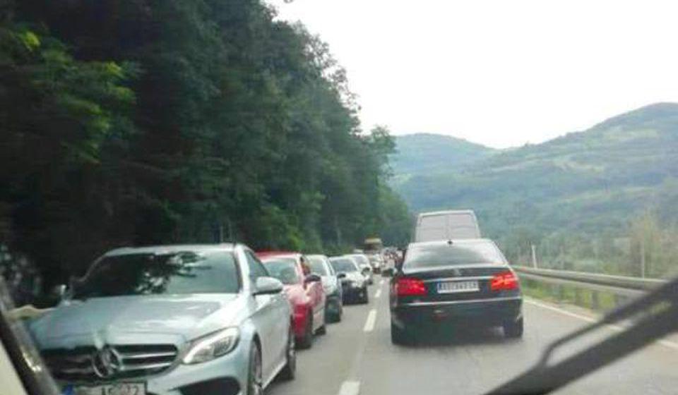 A sve zbog udesa od utorka. Foto VranjeNews