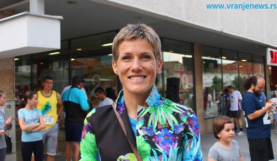 jevtićeva je prošle godine bila promoter Drugog vranjskog maratona. Foto VranjeNews