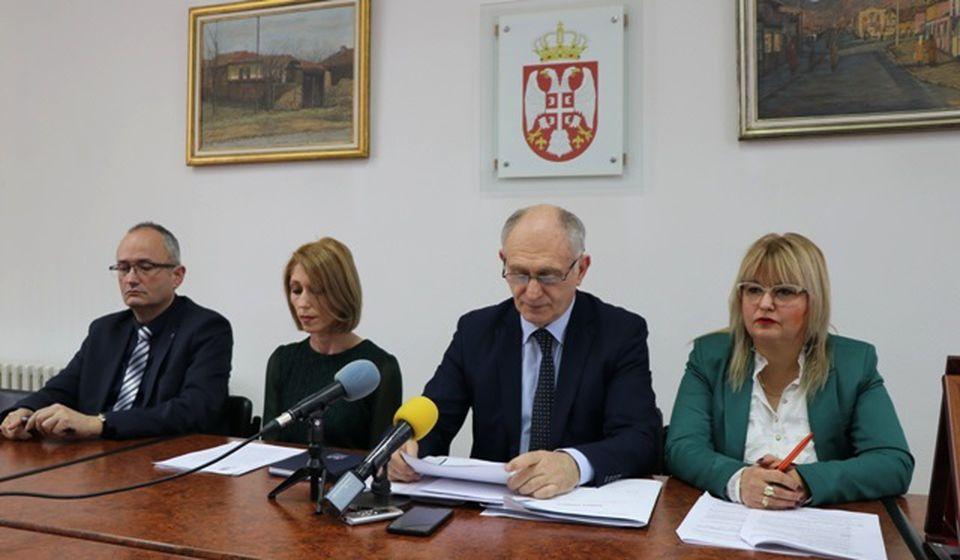 Sa današnje konferencije za medije. Foto Vranje News