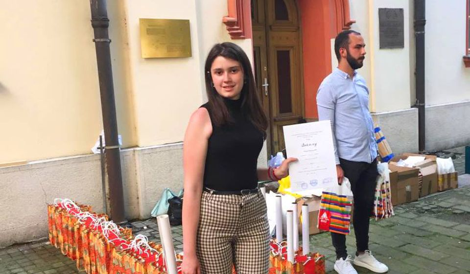 Nastavila niz uspeha: Mihaela Milenković. Foto Gimnazija Bora Stanković