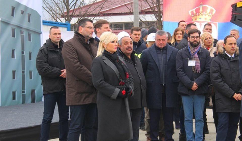Mihajlovićeva zimus, na dan polaganja kamena temeljca. Foto VranjeNews