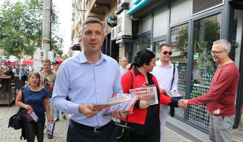 Boško Obradović u Vranju u leto 2020. Foto Vranje News