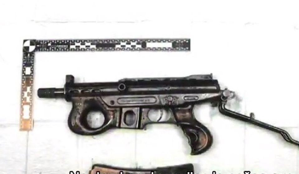 Oružje kojim je ubijen Goran Tasić Gokče. Foto screenshot