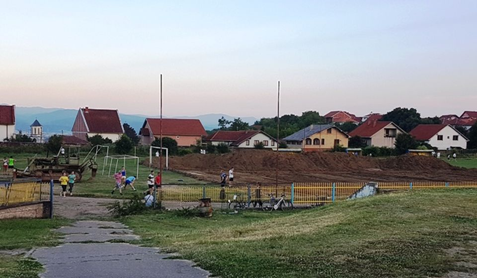 Gradski stadion u Vranju na početku rekonstrukcije 2017. Foto D. Dimić, VranjeNews