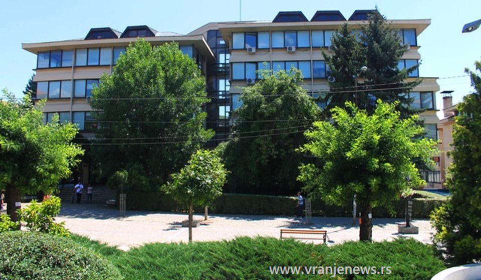 Zgrada Višeg suda i Višeg javnog tužilaštva u Vranju. Foto Vranje News