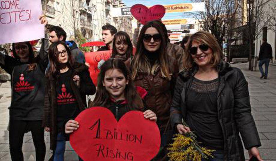 Sa jednog od ranijih protesta u Prištini  Foto Kosovo Women's Network